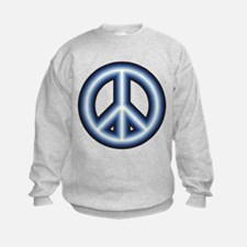 Blue Peace Symbol Sweatshirt