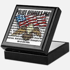 POLICE OFFICER'S PRAYER Keepsake Box