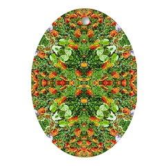 Flower Garden Carpet 5 Ornament (Oval)