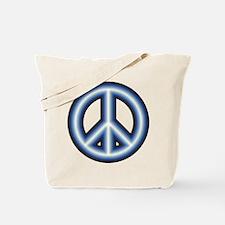 Blue Peace Symbol Reusable Shopping Bag