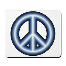 Blue Peace Symbol Mousepad