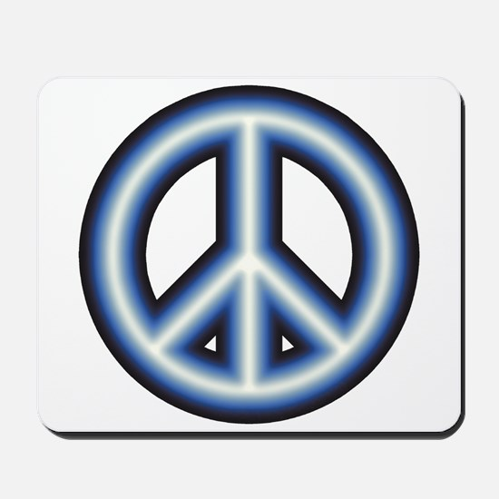 Blue Peace Symbol Mousepad