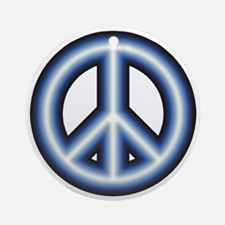 Blue Peace Symbol Ornament
