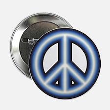 "Blue Peace Symbol 2.25"" Button"