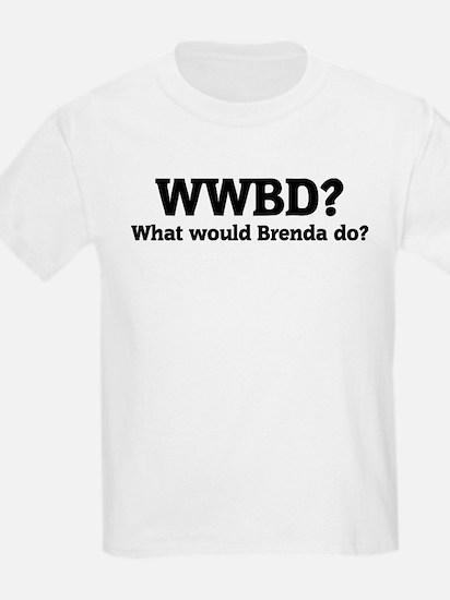 What would Brenda do? Kids T-Shirt