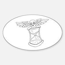 Time Flies Sticker (Oval)