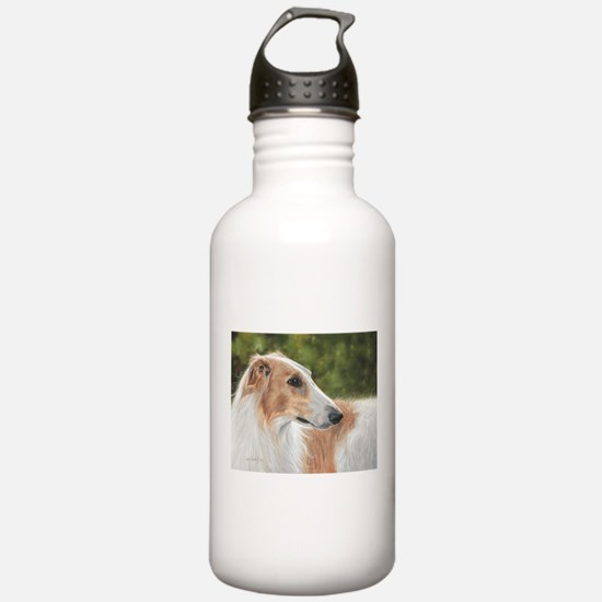 Borzoi by Dawn Secord Water Bottle