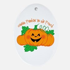 Cutest Punkin' In The Patch Ornament (Oval)