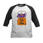Kitty Trick or Treat Kids Baseball Jersey