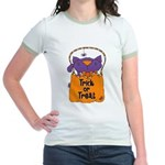 Kitty Trick or Treat Jr. Ringer T-Shirt