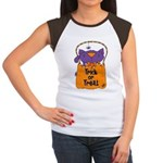 Kitty Trick or Treat Women's Cap Sleeve T-Shirt