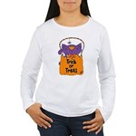 Kitty Trick or Treat Women's Long Sleeve T-Shirt