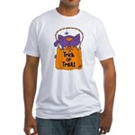 Kitty Trick or Treat Fitted T-Shirt