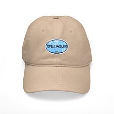 Topsail Island NC - Oval Design Cap