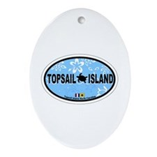 Topsail Island NC - Oval Design Ornament (Oval)