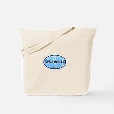 Topsail Island NC - Oval Design Tote Bag