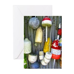 Lobster Trap Buoys (2) Greeting Cards (Pk of 20)