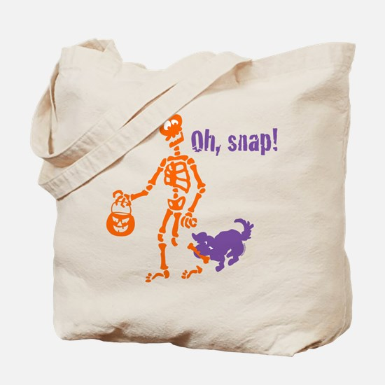Oh, Snap Skeleton Tote Bag