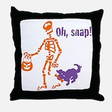 Oh, Snap Skeleton Throw Pillow