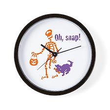 Oh, Snap Skeleton Wall Clock