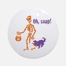 Oh, Snap Skeleton Ornament (Round)
