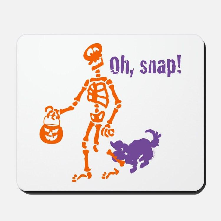Oh, Snap Skeleton Mousepad
