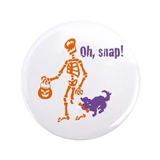 "Oh, Snap Skeleton 3.5"" Button"