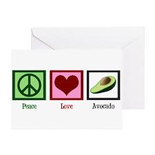Peace Love Avocado Greeting Card