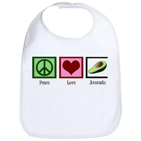 Peace Love Avocado Bib