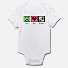 Peace Love Avocado Infant Bodysuit