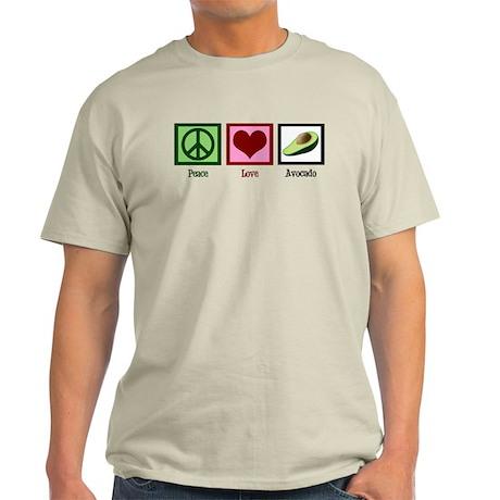 Peace Love Avocado Light T-Shirt