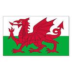 Welsh Flag Sticker (Rectangle 10 pk)