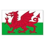 Welsh Flag Sticker (Rectangle 50 pk)