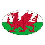 Welsh Flag Sticker (Oval 10 pk)
