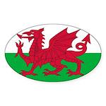 Welsh Flag Sticker (Oval 50 pk)