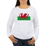 Welsh Flag Women's Long Sleeve T-Shirt