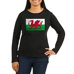 Welsh Flag Women's Long Sleeve Dark T-Shirt
