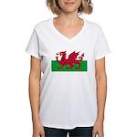 Welsh Flag Women's V-Neck T-Shirt