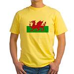 Welsh Flag Yellow T-Shirt