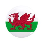 "Welsh Flag 3.5"" Button"