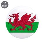 "Welsh Flag 3.5"" Button (10 pack)"