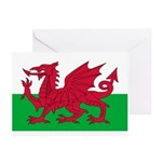 Welsh Flag Greeting Cards (Pk of 20)
