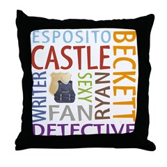 Castle Fan Throw Pillow
