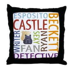 Castle Fan Throw Pillow