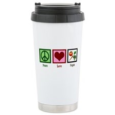 Peace Love Vegan Travel Mug