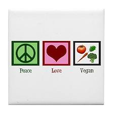 Peace Love Vegan Tile Coaster