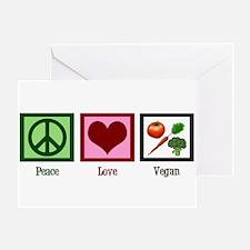 Peace Love Vegan Greeting Card