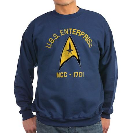 U.S.S. Enterprise Retro Sweatshirt (dark)