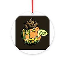 Halloween Pumpkin Poo Ornament (Round)