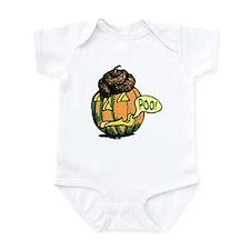 Halloween Pumpkin Poo Infant Bodysuit